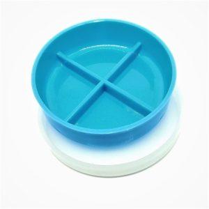 capsula de petry plastica 10x2cm 4 divisoes