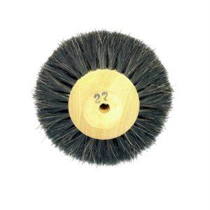 escova circular crina para polimento