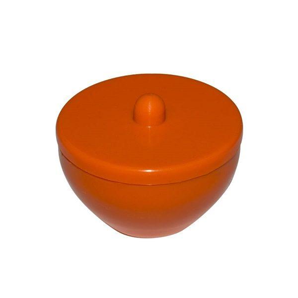 frasco de silicone para manipular acrilico laranja