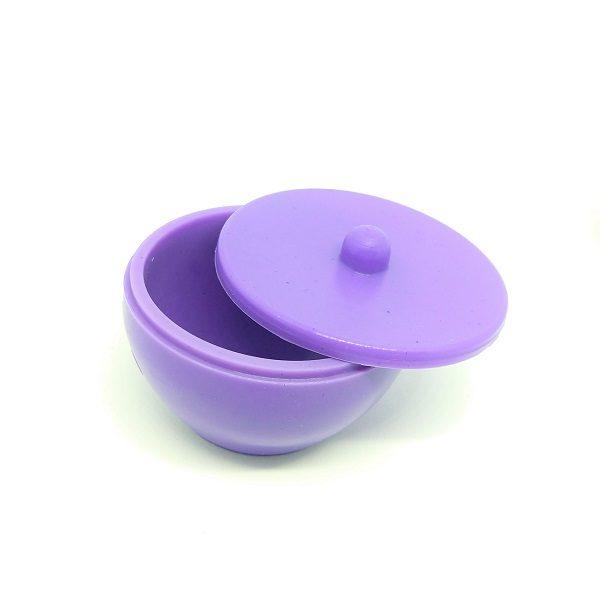 frasco de silicone para manipular acrilico lilas