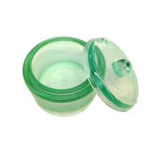frasco de vidro para manipular acrilico com tampa