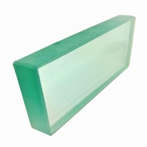 placa de vidro 15mm polida