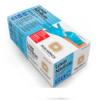 luva nitrílica powder free azul descartável tamanho p