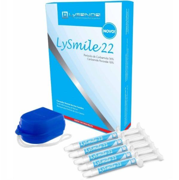 Kit Clareador Caseiro Dental Lysmile Gel 22% (5 Seringas) - Lysanda