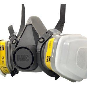 Kit Respirador 3M 6200 Semi Facial Servicos Gerais 2 Filtros