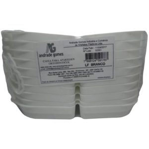 Estojo Porta Prótese Pequeno LF Branco C/10 - A&G