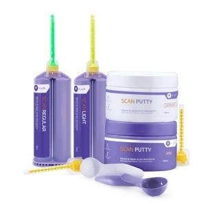 Silicone de Adição Scan Putty Light Kit Cod.P100- Yller